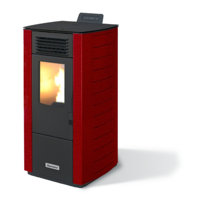 Centrometal CentroPelet Z12 (9 kW) elcsatornázható meleglevegős pellet tüzelésű kályha (bordó)