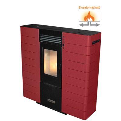 Centrometal CentroPelet ZS10 elcsatornázható, meleg levegős pellet tüzelésű kályha (bordó)