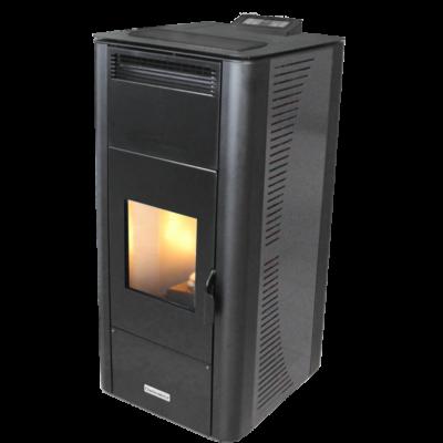 Centrometal CentroPelet ZV24 meleg levegős és vízteres pellet kandalló, kályha (szürke)