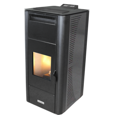 Centrometal CentroPelet ZV32 meleg levegős és vízteres pellet kandalló, kályha (szürke)