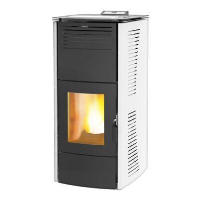Centrometal CentroPelet ZV16 (16,1 kW) meleg levegős és vízteres pellet kandalló, kályha (fehér)