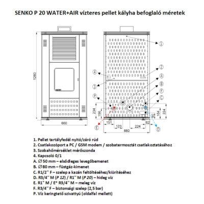 SENKO P 20 WATER+AIR - befoglaló méretek