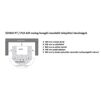 SENKO P 10 AIR - telepítési távolságok