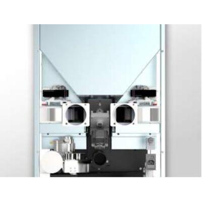 CentroPelet Z16C - 2db elcsatornázható csatlakozással, 2 db ventilátorral