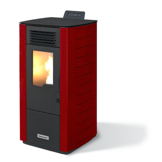 Centrometal CentroPelet Z12 meleg levegős pelletkályha (bordó)