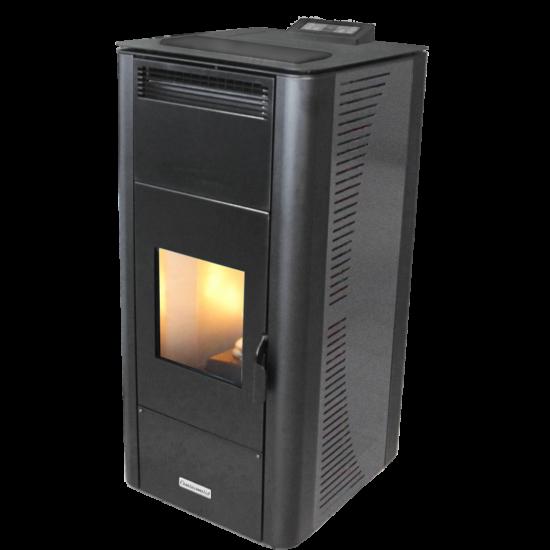 Centrometal CentroPelet ZV20 meleg levegős és vízteres pellet kandalló, kályha (szürke)
