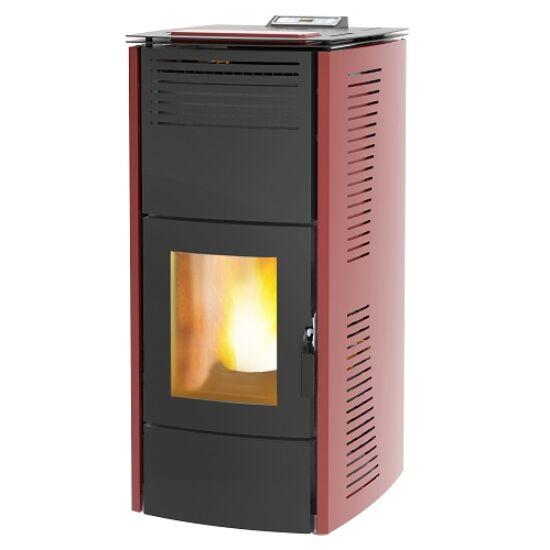 Centrometal CentroPelet ZV16 meleg levegős és vízteres pellet kandalló, kályha (bordó)